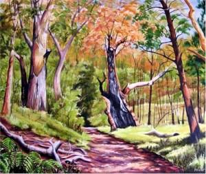 Stephen Kaldor - Bushtrack with Burnt Tree